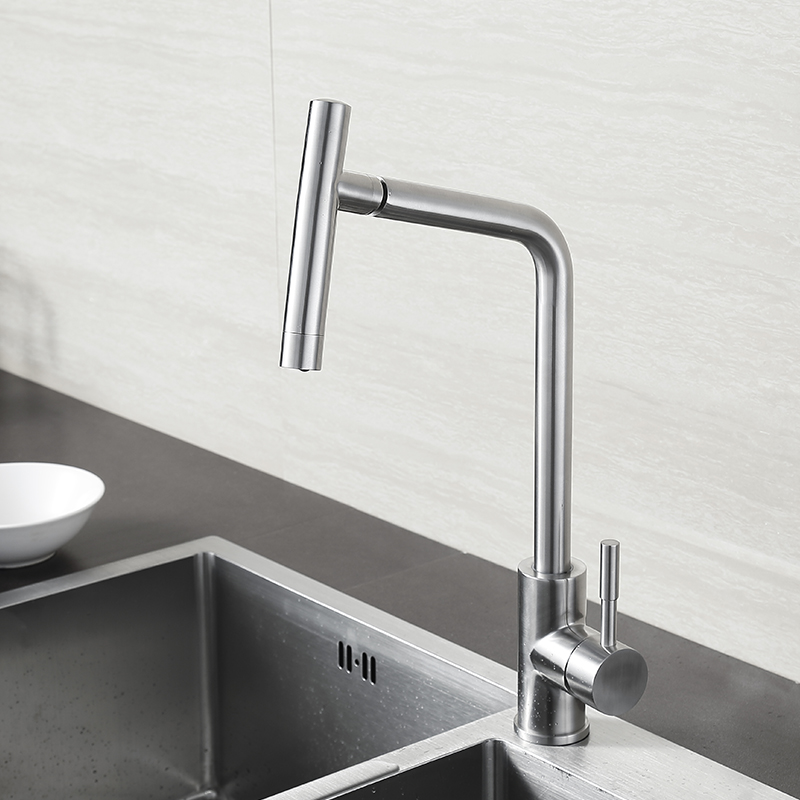 BLH 514 Healthy Kitchen Faucet Brushed Nickel SUS 304 Stainless Steel Sink  Faucet Mixer Tap With Movable Head New Modern Design In Kitchen Faucets  From Home ...