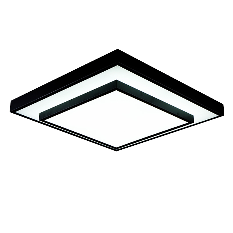 Modern minimalist square ceiling lights nordic personality black and modern minimalist square ceiling lights nordic personality black and white living room lamps atmospheric fashion zl79 in ceiling lights from lights aloadofball Images