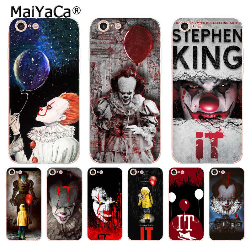 MaiYaCa ستيفن كينغ انها Pennywise مهرج الرعب الهاتف حقيبة لهاتف أي فون 8 7 6 6S زائد X XS ماكس XR 5 5s SE 11 11pro ماكس