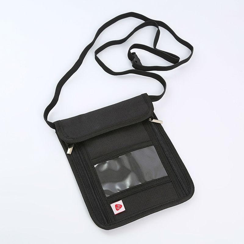 Дорожный футляр RFID Блокировка Кошелек шеи бумажник паспорта Скрытая ремень безопасный случай чехол телефона Монета Организатор Регулируе…