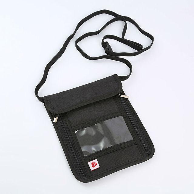 50c69f998ac2 Travel Pouch RFID Blocking Purse Neck Wallet Passport Holder Hidden Belt  Safe Case Phone Cover Coin Organizer Adjustable String