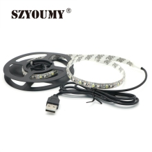 SZYOUMY Led Strip Light Waterproof 3528 SMD USB 30LED Strip Light String DC5V With USB Port Cable Home Decor Lamp Lighting