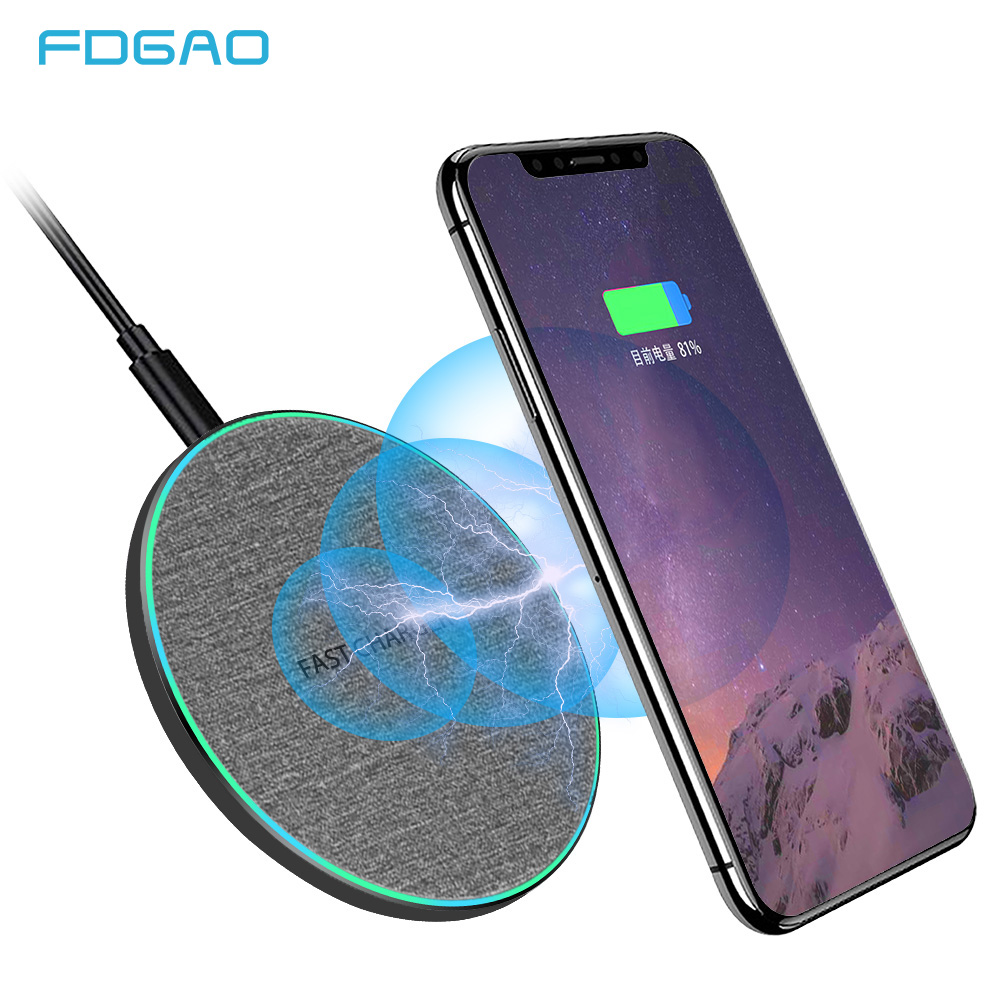 Wireless-Charger Charging-Pad Xiaomi Mi9 iPhone X 15W Qi Huawei Samsung S10 20-Pro Fast