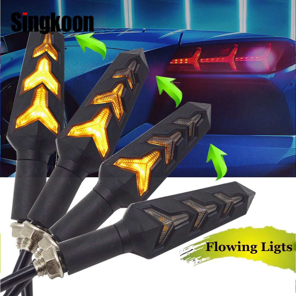 Flowing motorcycle turn signal lights Lamp LED clignotant moto Blinker FOR Ducati 899 panigale ABS 1098 1098S 1198 1198S 1199