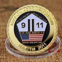 God Bless The United States 911 Attack Commemorative Coin Iron Alloy No-currency Coins Gift  1PCS/Lot