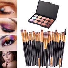 15 Colors Contour Face Cream Makeup Concealer Palette Professional + 20 Makeup Brush G6620