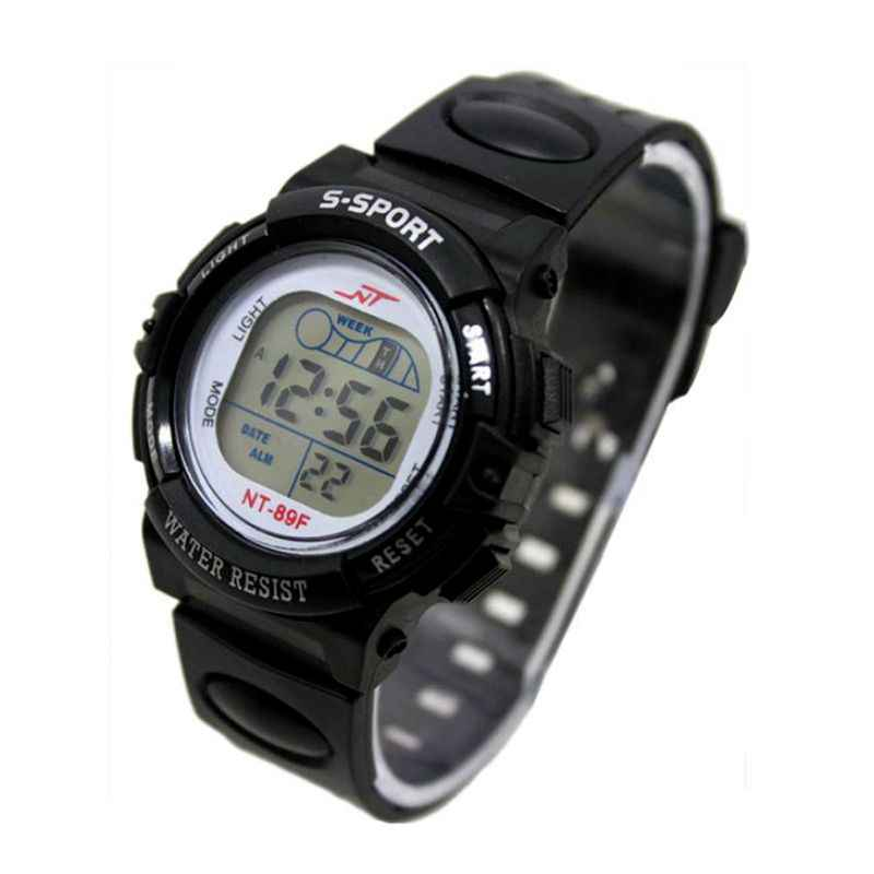 Boy Girl Watch Date LED Digital Multifunction Stainless Steel Dial Silicone Band Sport Light Watch Kids Watches Reloj Hombre