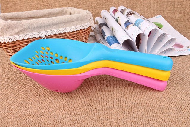 Kitten Sand Waste Scooper Shovel Plastic Litter Scoop Clean Tool for Pet Dog Cat free shipping PH29