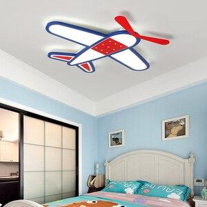 Image 4 - الكرتون الطائرة Led أضواء السقف الحديثة الأطفال مصباح السقف للطفل غرفة نوم المنزل داخلي إضاءة للتزيين تركيبات