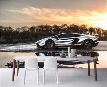 Custom mural photo 3d wallpaper picture Sports car scenery decor painting 3d wall murals wallpaper for living room wall 3 d 3d wallpaper customized 3d floor painting wallpaper murals 3 d floor tile in a burning flame wall 3d living room photo wallpaer