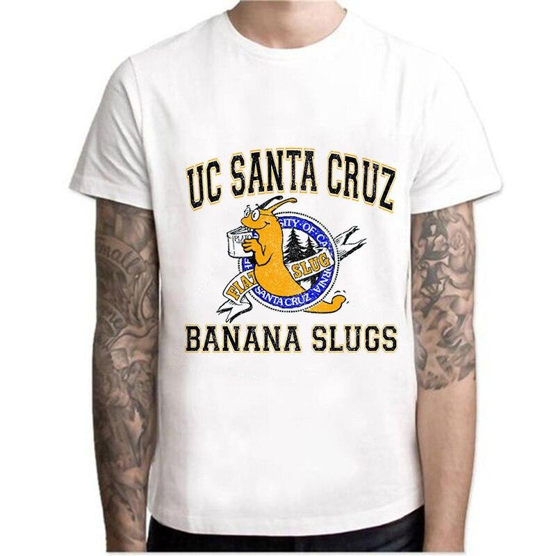 Men/Women Tops Tees Casual T Shirts UC Santa Cruz Banana Slugs Printed Funny T-Shirt Short Sleeve Dracarys T Shirt Pulp Fiction