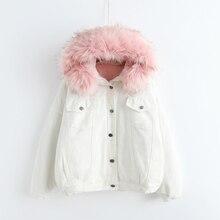2017 Witer Harajuku Japanese Style White Thick Coat Autumn Women Ulzzang Kawaii Outwear Cashmere Jacket With