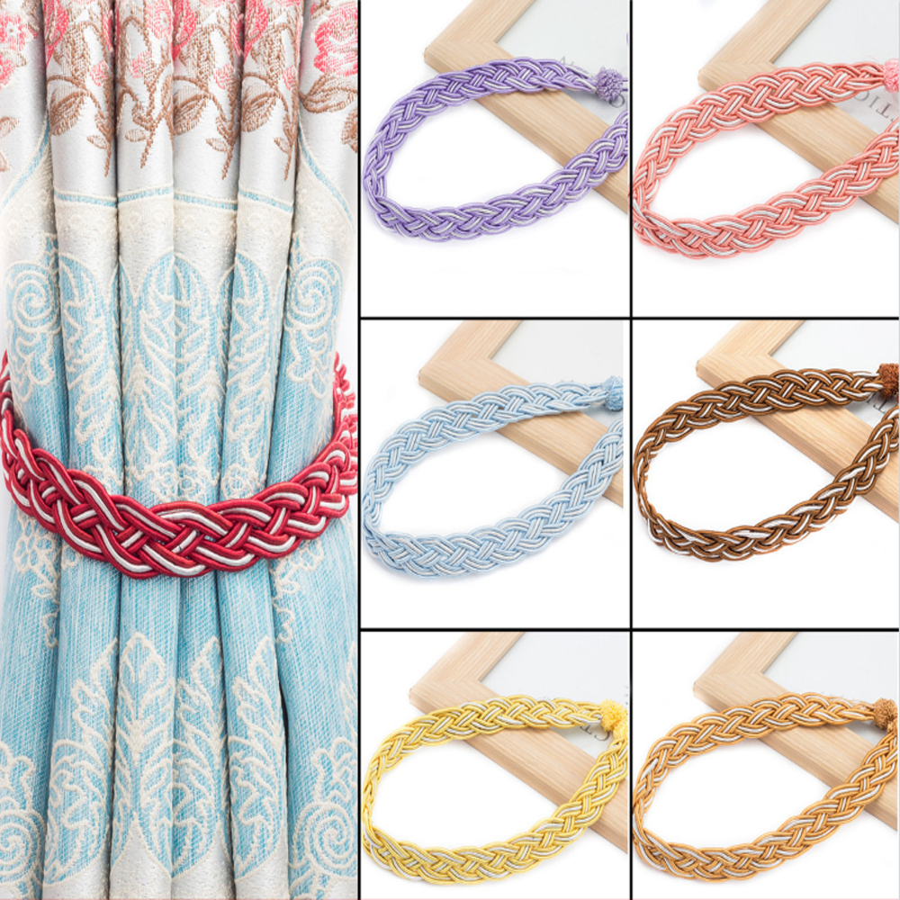 Permalink to 2pcs Handmade Woven Twist Curtains Tieback Curtain Clips Curtains Holder Tassels Clamps Strap Curtain Decorative Accessories