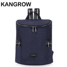 Kangrow нейлон Для женщин рюкзак Для женщин Повседневное Daypacks черный складной рюкзак синий Mochila Feminina