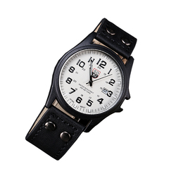 SOKI Business Man Watch Luxury Brand Leather Quartz Wristwatch Fashion Casual Sport Military Campaign Watch reloje Hot Sales