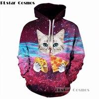 be9b53f52 PLstar Cosmos Pizza Cat Space Galaxy MenWomen Hoodies 3d Print Sweatshirts  With Hat Hoody Tops Dropship