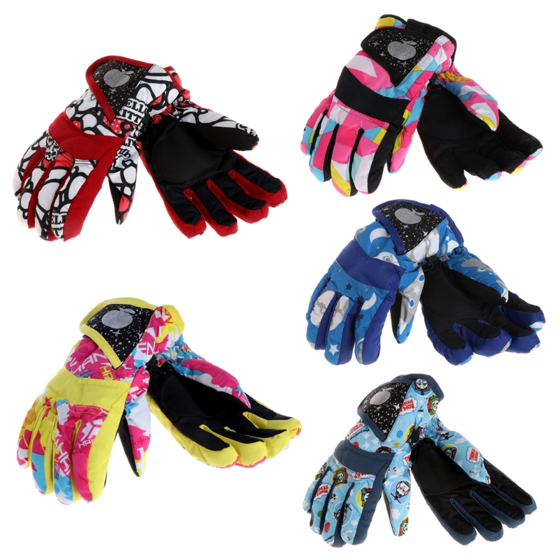 Children Winter Girls Boys Ski Skiing Bike Cycling Riding Warm Waterproof Windproof Winter Ski Gloves