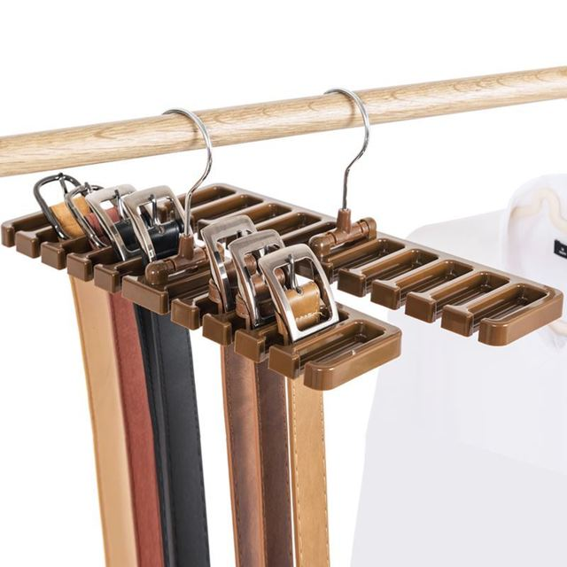 10 Holes Foldable Belt Hanger Tie Rack Sy Abs Scarf Organizer Closet Wardrobe E Saver With Metal Hook Bra Belts