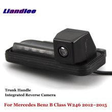 Liandlee For Mercedes Benz B Class W246 2012-2015 Car Reverse Camera Rear View Backup Parking Camera / Integrated Trunk Handle for mercedes benz glk class x204 2013 2015 trunk handle car reverse camera rear view backup parking camera hd ccd night vision