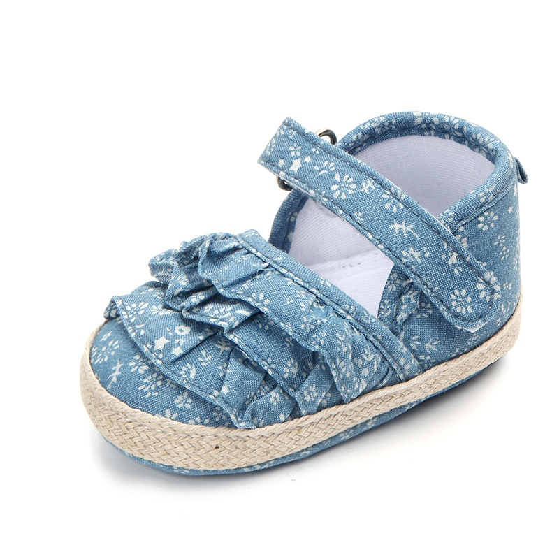 Baby Girl Shoes Summer Soft Sole Anti-slip Flower Pattern Crib Shoes First Walkers Walking Shoes