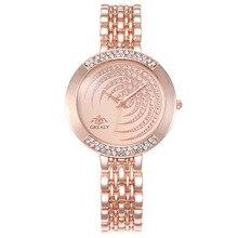 Women's full diamond fashion alloy set creative dial steel belt casual wrist watch female models