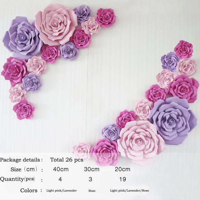 How to assemble a giant paper rose download print create different 13pcs26pcs giant paper foam flower large flower big paper flower for wedding mightylinksfo