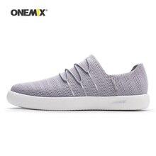 Onemix Men Skateboarding Shoes Women Lazy Slip On Knit Mesh Designer Sport Skateboard Sneakers Outdoor Jogging Walking Trainers