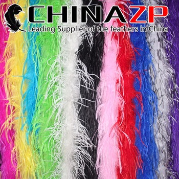 CHINAZP Wholesale 20yards/lot 35/piece High Quality Dyed Mix Colors Ostrich Feather Boas and Scarfs