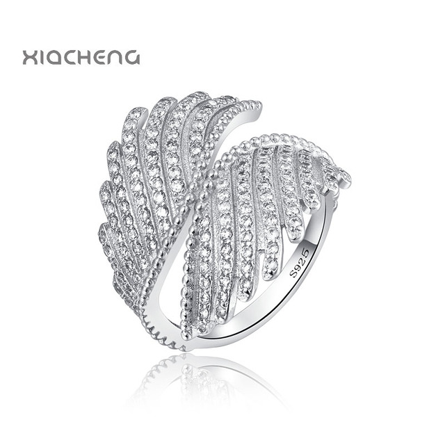 925 Sterling Silver Ring Charm With European Angel Wings Style Wedding Ring For