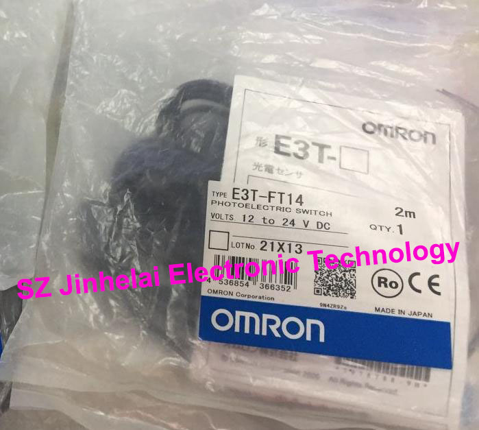 New and original E3T-FT14, E3T-FD14 OMRON Photoelectric sensor Photoelectric switch 12-24VDC 2M new and original e3z ll86 e3z ls86 omron photoelectric switch 12 24vdc