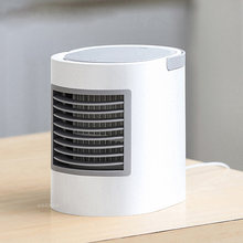 Isi Ulang USB Air Cooling Fan AC Perangkat Air Cooled Desktop Portable Humidifier Kipas Angin Mini Kipas Angin(China)