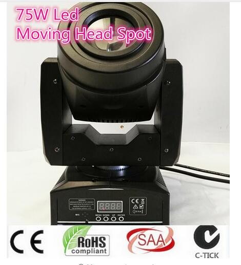 75W LED Spot Moving Head Light/ DMX 512 controller LED light for party DMX stage light disco led light