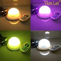 10 stücke dhl 48 leds free verschiffen 6 watt 16 farbe led rgb magische spot glühbirne lampe wireless remote control