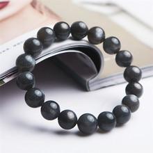 цена Genuine Black Natural Sunstone Bracelets 11mm Labradorite Moonstone Gems Healing Crystal Round Bead Bracelet Drop Shipping онлайн в 2017 году
