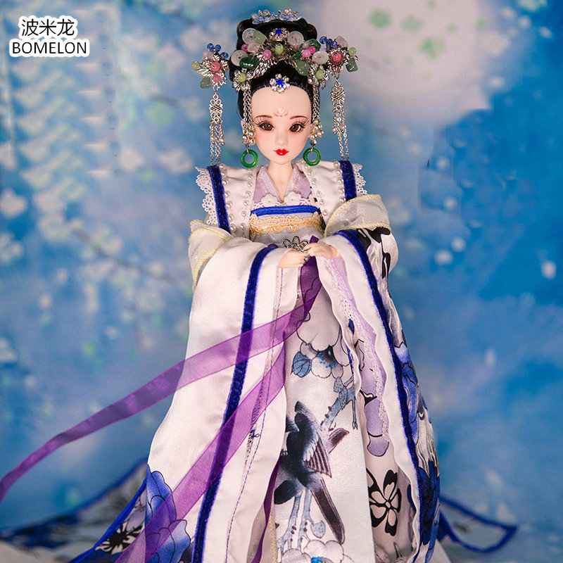 High-quality Hand-made Chinese Costume Dolls BAILU Beauty Doll 12 Jointed Bjd 1/6 Dolls Toys Girl Birthday Gifts Collection pure handmade chinese ancient costume doll clothes for 29cm kurhn doll or ob27 bjd 1 6 body doll girl toys dolls accessories