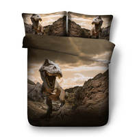 3D bedding set queen size animal dinosaur duvet cover twin size bed set for kid home textile fantasy bedroom decor king 13 style