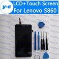 Для LENOVO S860 жк-дисплей + Сенсорный Экран 100% Новый ЖК-Дисплей Экрана Замена Тяга Для LENOVO S860