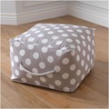 "Grey with white spot Square Pouf/Ottoman stool with 420D Canvas Material 19.8""x12"" inches (COVER only supply)"