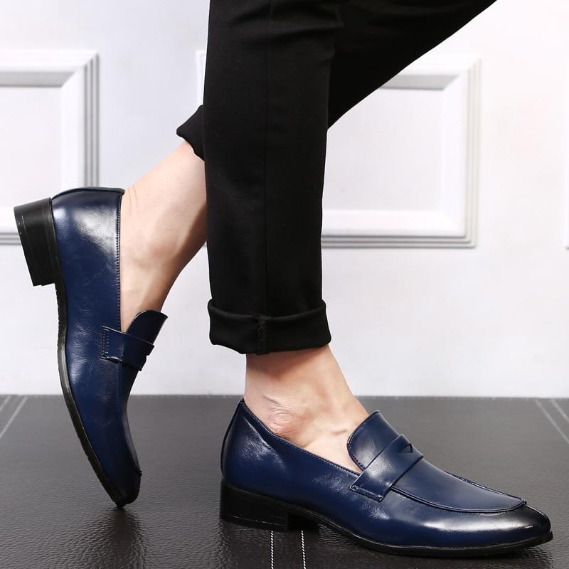 Мужская обувь Slip on Leather Oxford Уютные - Мужская обувь - Фотография 5