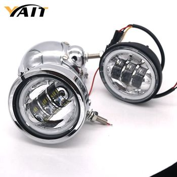 Motorcycle LED Driving Passing Fog Lights with Halo DRL for Harley Davidson Touring Bikes Ultra Classic Limited Road King Street harley davidson headlight price