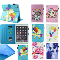 for Apple iPad Air   1     2   case unicorn flamingo Flip Pu Leather   Tablet   Stand case smart cover for iPad 5 Ipad 6 new ipad 2017
