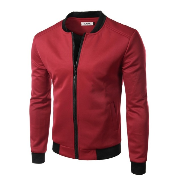 c3e9fd0555515 Jacket Men 2016 Autumn England Style Slim Solid Zipper Outerwear Long  Sleeve Design Tops Solid Coats Male 5 Color Cardigan-in Jackets from Men's  ...