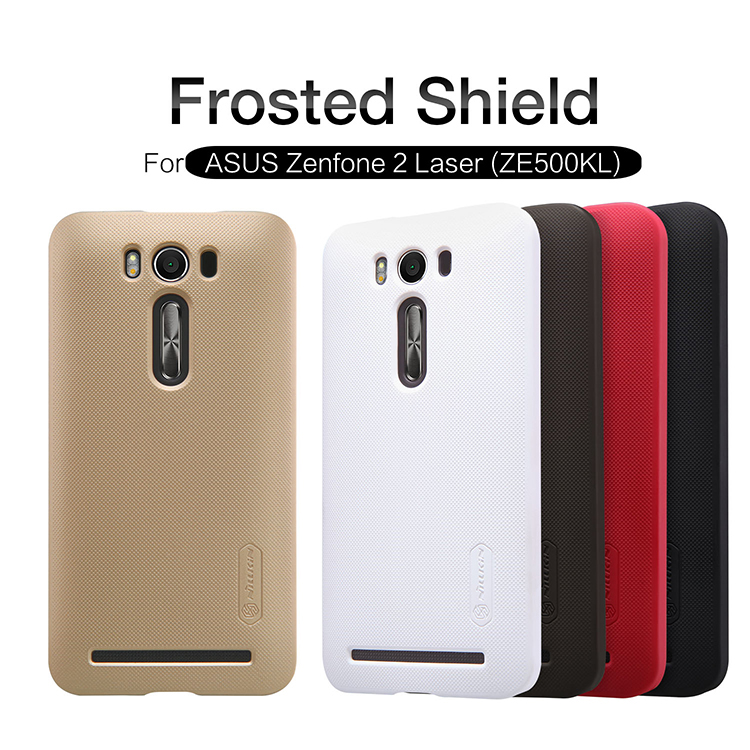 Original Nilkin Super Frosted Shield Hard Back PC Cover Case for Asus Zenfone 2 Laser ZE500KL Phone Case + Screen Protector