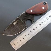Eafengrow EF103 Fixed Blade Knife 440C blade Red Wood Handle Survival Tactical Knife  Hunting Camping Pocket Knife Fruit Knife