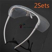 Dental Adjustable Full Face Shield With CLEAR Detachable Visor Anti Fog 2Sets
