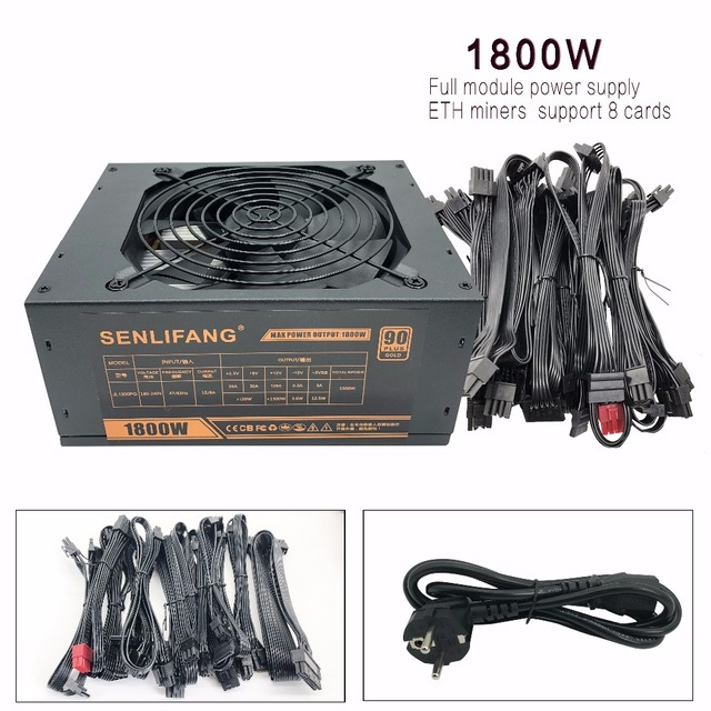 SENLIFANG ETH miners PSU GOLD 90 support 8 card Full module power supply operation Applicable to ETH ETC ZEC ZCASH DGB XMR