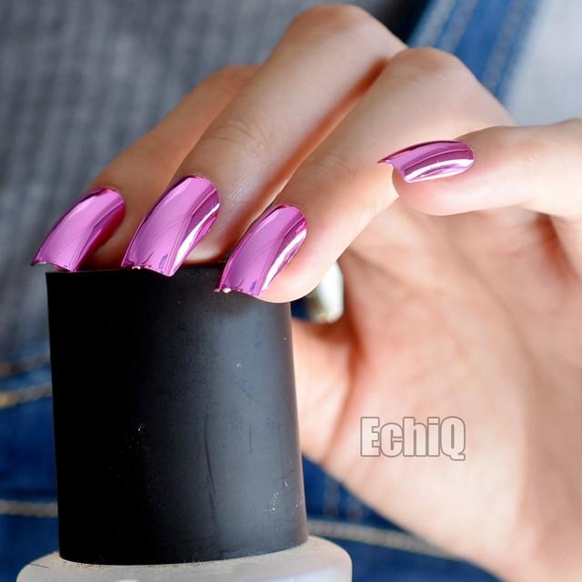 Tienda Online 24 unids/kit Rosa metálico falso Clavos largo espejo ...