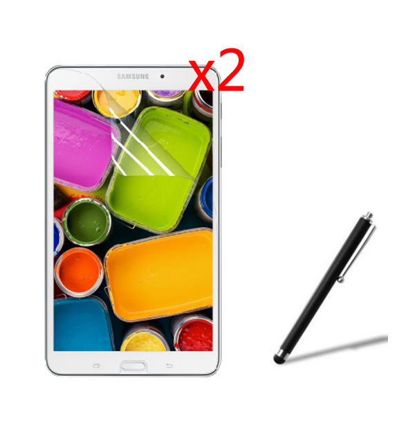 2x film 2x cloth 1x Stylus Anti Glare Matted Screen Protector Matte Films For Samsung Galaxy
