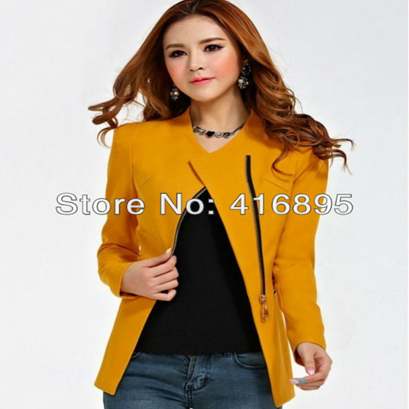 Womens Blazers Female Business Work Office Formal Styles Suit Yellow Blue White Green Female Jackets Coat Outwear