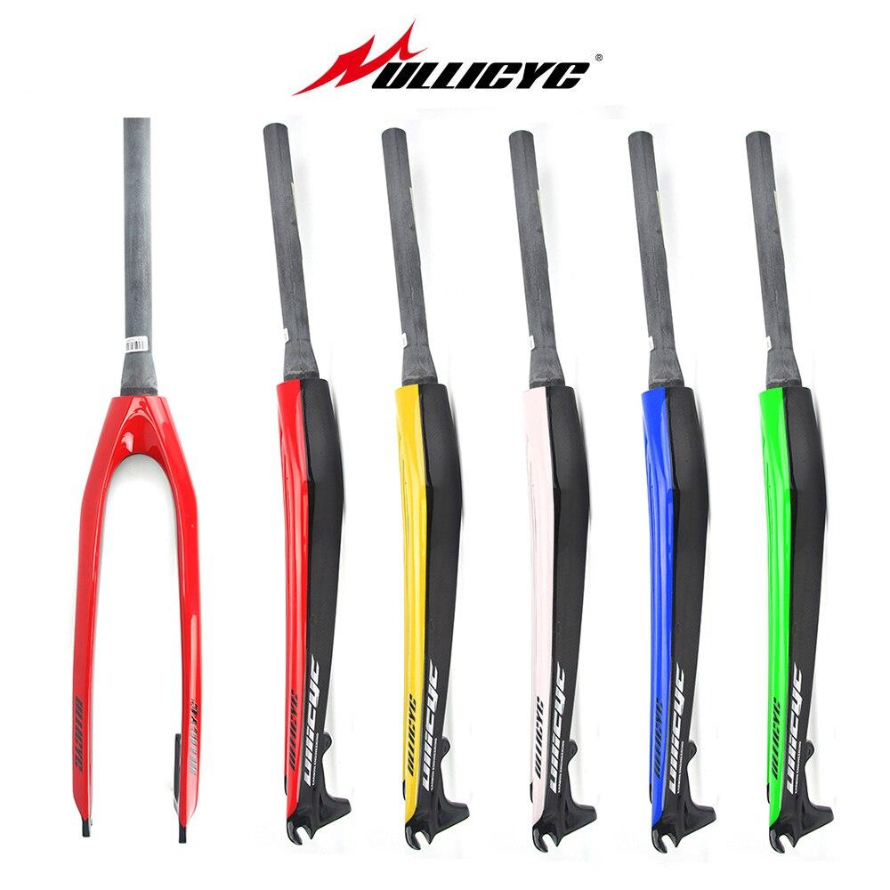 Сверхпрочный светильник, пять цветов, 26 /27,5 /29 дюймов, горный велосипед, полностью углеродистая передняя вилка, MTB, велосипедный дисковый тормоз, углеродная вилка